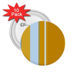 Yellow elegant lines 2.25  Buttons (10 pack)