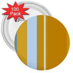 Yellow elegant lines 3  Buttons (100 pack)