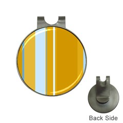 Yellow elegant lines Hat Clips with Golf Markers