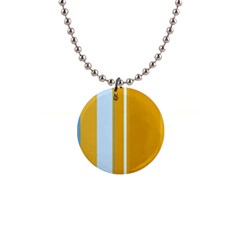 Yellow elegant lines Button Necklaces