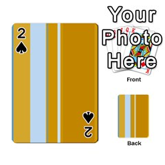 Yellow elegant lines Playing Cards 54 Designs