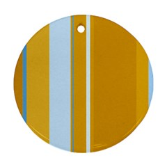 Yellow elegant lines Round Ornament (Two Sides)