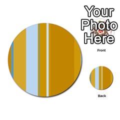 Yellow elegant lines Multi-purpose Cards (Round)