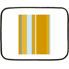 Yellow elegant lines Double Sided Fleece Blanket (Mini)