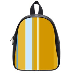 Yellow elegant lines School Bags (Small)