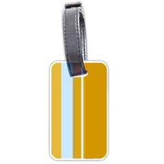 Yellow elegant lines Luggage Tags (Two Sides)