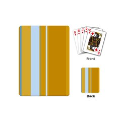 Yellow elegant lines Playing Cards (Mini)