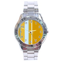 Yellow elegant lines Stainless Steel Analogue Watch