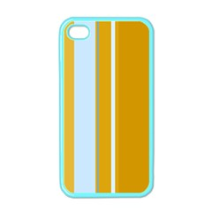 Yellow elegant lines Apple iPhone 4 Case (Color)