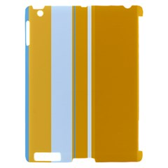Yellow elegant lines Apple iPad 2 Hardshell Case (Compatible with Smart Cover)