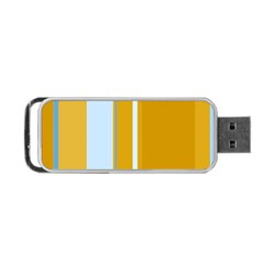 Yellow elegant lines Portable USB Flash (One Side)
