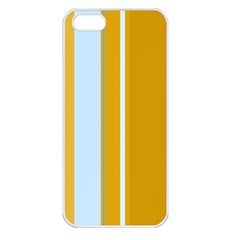 Yellow elegant lines Apple iPhone 5 Seamless Case (White)