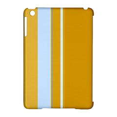 Yellow elegant lines Apple iPad Mini Hardshell Case (Compatible with Smart Cover)