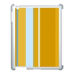 Yellow elegant lines Apple iPad 3/4 Case (White)