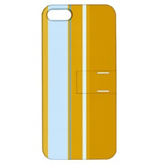 Yellow elegant lines Apple iPhone 5 Hardshell Case with Stand