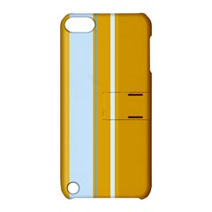 Yellow elegant lines Apple iPod Touch 5 Hardshell Case with Stand