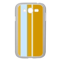Yellow elegant lines Samsung Galaxy Grand DUOS I9082 Case (White)