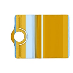 Yellow elegant lines Kindle Fire HD (2013) Flip 360 Case