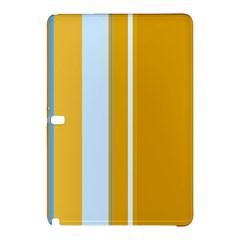 Yellow elegant lines Samsung Galaxy Tab Pro 10.1 Hardshell Case