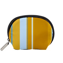 Yellow elegant lines Accessory Pouches (Small)