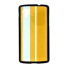 Yellow elegant lines Nexus 5 Case (Black)