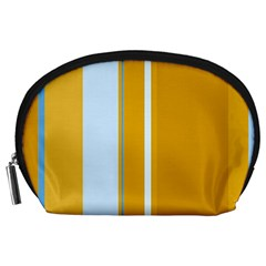 Yellow elegant lines Accessory Pouches (Large)