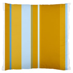 Yellow elegant lines Standard Flano Cushion Case (Two Sides)