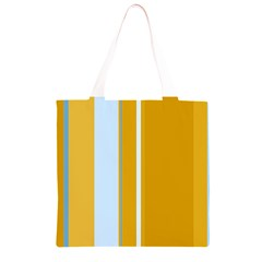 Yellow elegant lines Grocery Light Tote Bag