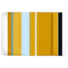 Yellow elegant lines iPad Air 2 Flip