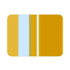 Yellow elegant lines Double Sided Flano Blanket (Mini)