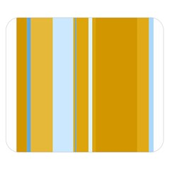 Yellow elegant lines Double Sided Flano Blanket (Small)