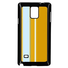 Yellow elegant lines Samsung Galaxy Note 4 Case (Black)