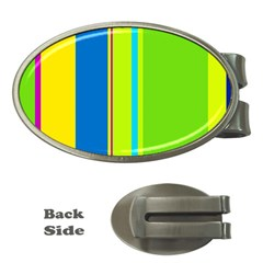 Colorful lines Money Clips (Oval)