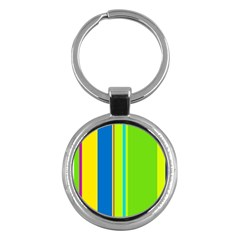 Colorful lines Key Chains (Round)