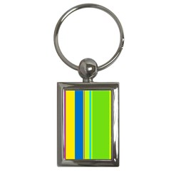 Colorful lines Key Chains (Rectangle)