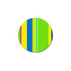 Colorful lines Golf Ball Marker