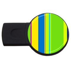 Colorful lines USB Flash Drive Round (1 GB)