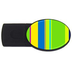 Colorful lines USB Flash Drive Oval (2 GB)