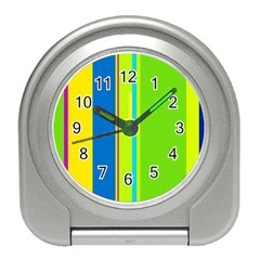 Colorful lines Travel Alarm Clocks
