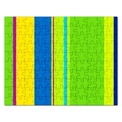 Colorful lines Rectangular Jigsaw Puzzl
