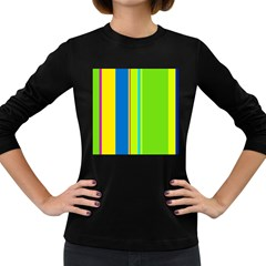 Colorful lines Women s Long Sleeve Dark T-Shirts