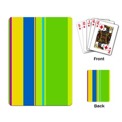 Colorful lines Playing Card