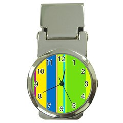Colorful lines Money Clip Watches