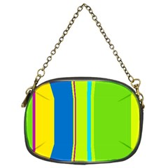 Colorful lines Chain Purses (One Side)