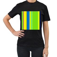 Colorful lines Women s T-Shirt (Black)