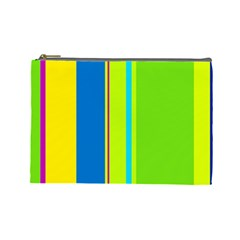 Colorful lines Cosmetic Bag (Large)