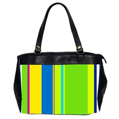 Colorful lines Office Handbags (2 Sides)
