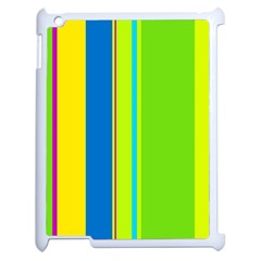 Colorful lines Apple iPad 2 Case (White)