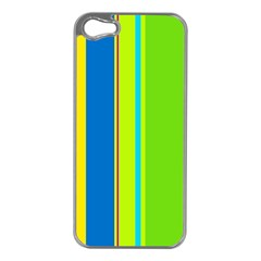 Colorful lines Apple iPhone 5 Case (Silver)