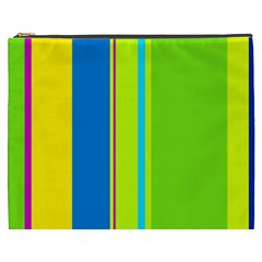 Colorful lines Cosmetic Bag (XXXL)